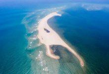 クアダイビーチに、新しい砂州 1