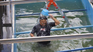 日本人専門家:トーリック川の水質浄化試験タンクで浴びる4