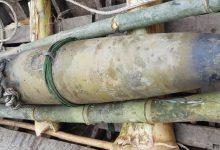 民人の庭で350 kg重量の爆弾がある